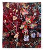 Burgundy Succulents. Multi Color Beauty Fleece Blanket