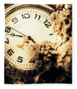 Buried By The Hands Of Time Fleece Blanket