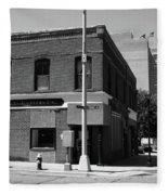 Burlington, Nc - Main Street And Front Fleece Blanket