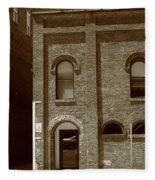 Burlington North Carolina - Arches And Alley Sepia Fleece Blanket