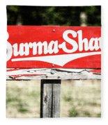 Burma Shave #1 Fleece Blanket