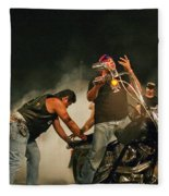 Burn Out Fleece Blanket
