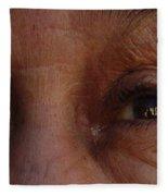 Burned Eyes Fleece Blanket