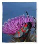 Burnet Moths Fleece Blanket