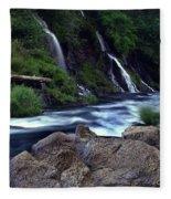 Burney Falls Creek Fleece Blanket