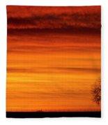 Burning Country Sky Fleece Blanket