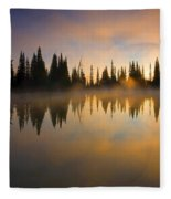 Burning Dawn Fleece Blanket