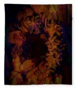 Burning Flower Fleece Blanket