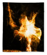 Burning Man Fleece Blanket