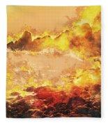 Burning Shore Fleece Blanket