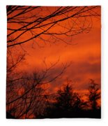 Burning Sky Fleece Blanket