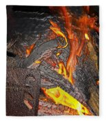 Burning Fleece Blanket