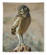 Burrowing Owlet-img_1414-2017 Fleece Blanket