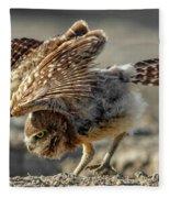 Burrowing Owlet Workout Fleece Blanket
