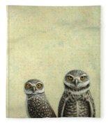 Burrowing Owls Fleece Blanket