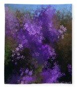 Bursting Blooms Fleece Blanket
