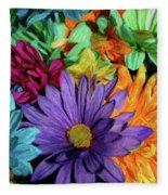 Bursting Colors Fleece Blanket