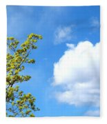Bursting With New Life Fleece Blanket