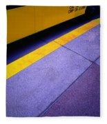 Bus Stop Fleece Blanket