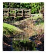 Buschman Park Bridge Fleece Blanket