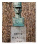 Bush Behind Piotr Wysocki Bust Fleece Blanket