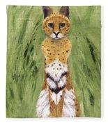 Bush Cat Fleece Blanket