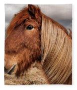 Bushy Icelandic Horse Fleece Blanket by Pradeep Raja PRINTS