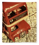 Bussing Britain Fleece Blanket