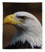 bust image of a Bald Eagle Fleece Blanket