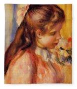 Bust Of A Young Girl Fleece Blanket