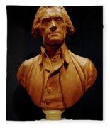 Bust Of Thomas Jefferson  Fleece Blanket