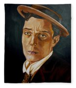 Buster Keaton Tribute Fleece Blanket