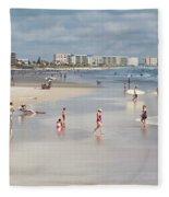 Busy Beach Day Fleece Blanket