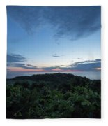 Busy Boats At Blue Hour Fleece Blanket