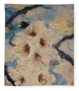 Busy Bumble Bee And Blossom.  Fleece Blanket