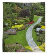 Butchart Gardens Fleece Blanket