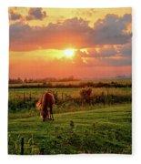 Butler Center Pasture Fleece Blanket