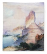 Butte Green River Wyoming Fleece Blanket