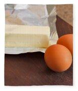 Butter And Eggs Fleece Blanket