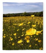 Buttercup Field Fleece Blanket