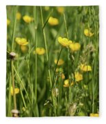 Buttercups And Green Grass At Moore State Park Fleece Blanket