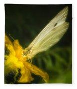 Butterflies And Blossoms Fleece Blanket