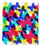 Butterflies Fleece Blanket by Bee-Bee Deigner