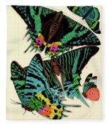 Butterflies, Plate-7 Fleece Blanket