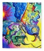 Butterfly 01. Science And Its Progress  Fleece Blanket
