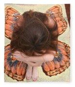 Butterfly 053 Fleece Blanket