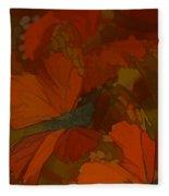 Butterfly Abstract Fleece Blanket