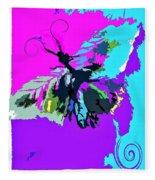 Butterfly Art By Lisa Kaiser Fleece Blanket