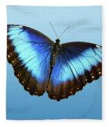 Blue Morpho Beauty Fleece Blanket