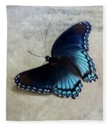 Butterfly Blue On Groovy Fleece Blanket